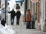 На изображении Чехии обычные улочки