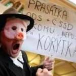 Демонстрация на улицах Праги