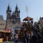 фото туристов в Праге Чехии